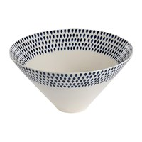 Nkuku Indigo Drop Serving Bowl Small