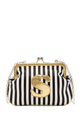 Melie Bianco Striped Initial Pouch S Multi