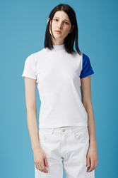 Jacquemus Le T Shirt Col Haut White Electric Blue