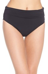 Women's Magicsuit Ruched Bikini Bottoms Black Tones