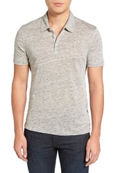 Zachary Prell Men's Calluna Polo Light Grey