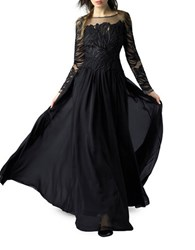 Basix Ii Embroidered Sequined Dress Black