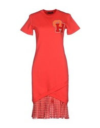 Ostwald Helgason Knee Length Dresses Red