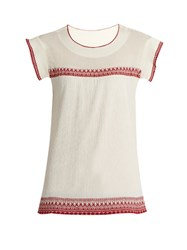 The Great Needle Point Embroidered Top White Multi