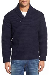 Men's Schott Nyc Shawl Collar Knit Pullover Navy