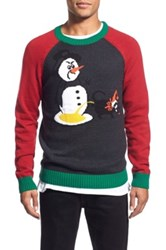 The Rail 'Snowman' Holiday Crewneck Sweater Gray