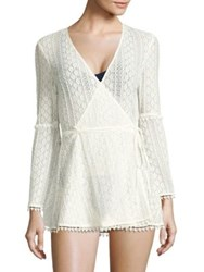 L Space Aura Crochet Knit Cover Up Ivory
