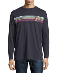 Psycho Bunny Long Sleeve Graphic Tee Navy