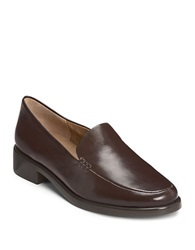 Aerosoles Wishlist Leather Loafers Dark Brown