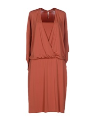 Pierantonio Gaspari Knee Length Dresses Rust