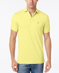 Tommy Hilfiger Men's Classic Fit Ivy Polo Wax Yellow