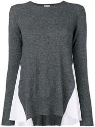 Dondup Contrast Side Panel Sweater Grey