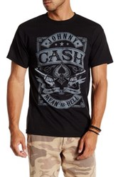 Bravado Johnny Cash Mean As Hell Graphic Tee Black
