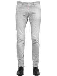 Dsquared 16.5Cm Cool Guy Grey Wash Stretch Jeans Light Grey