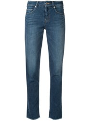 Loveless Frayed Hem Jeans Blue