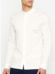 Reiss Chapter Long Sleeve Jersey Shirt White