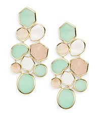 Ippolita Rock Candy Deco Pisa Brown Shell Chrysoprase Mother Of Pearl And 18K Yellow Gold Drop Earrings Gold Multi