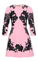 Dolce And Gabbana Floral Lace Mini Dress Pink