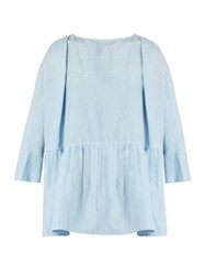 Rachel Comey Reunion Peplum Hem Top Light Blue