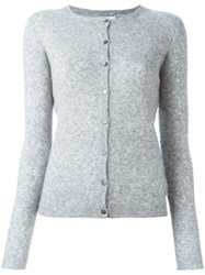 Liska Round Neck Cardigan Grey
