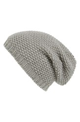 Women's Phase 3 Basket Knit Slouchy Beanie Grey