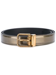 Dolce And Gabbana Skinny Belt Men Calf Leather 90 Grey