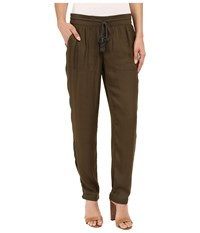 Adrianna Papell Soft Pants W Brainded Drawstring Olive Women's Casual Pants