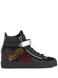 Giuseppe Zanotti Coby Crystal Embellished Sneakers Black
