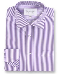 Double Two Men's Paradigm Single Cuff Pure Cotton Non Iron Shirt Purple