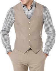 Perry Ellis Big And Tall Textured Suit Vest Natural Linen