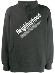 Neighborhood Contrast Logo Jumper Grey