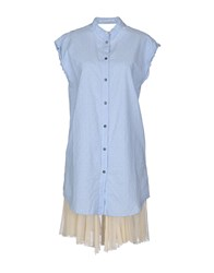 Novemb3r Dresses Short Dresses Women Sky Blue