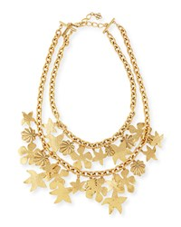 Seashell Golden Chain Necklace Oscar De La Renta