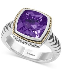 Effy Collection Balissima By Effy Amethyst Ring 4 Ct. T.W. In 18K Gold And Sterling Silver