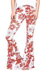 Women's Volcom 'Cold Love' Print Bell Bottom Pants