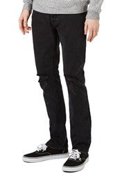Topman Men's Freeway Rip Slim Fit Jeans