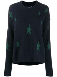 Zadig And Voltaire Star Intarsia Jumper Blue