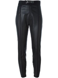 Dsquared2 Leather Trousers Black