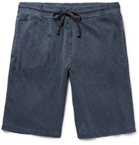 James Perse Loopback Supima Cotton Jersey Shorts Storm Blue