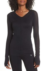 Climawear Yasmine Perforated Long Sleeve Tee Black