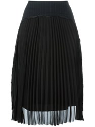 Maison Martin Margiela Pleated Front Pencil Skirt Blue