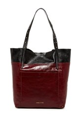 Isabella Fiore Therese Leather Tote Red