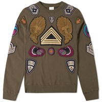 Dries Van Noten Harding Embroidered Crew Sweat Green