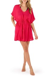 Echo Women's Cover Up Tunic Hibiscus Pink