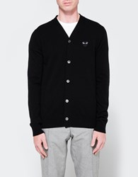 Comme Des Garcons Play Cardigan In Black