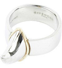 Givenchy Shark Tooth Ring Silver