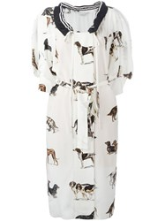 Stella Mccartney Sailor Collar Dog Dress White