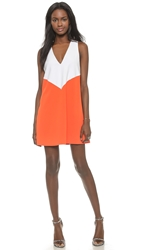 Alice Olivia Maya Colorblock Trapeze Dress Off White Sunset