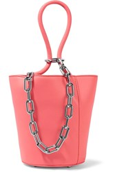 Alexander Wang Roxy Mini Chain Embellished Leather Tote Pink