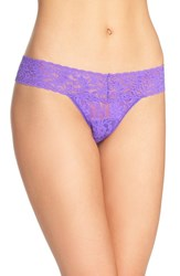 Hanky Panky Women's 'Signature Lace' Low Rise Thong Royal Purple